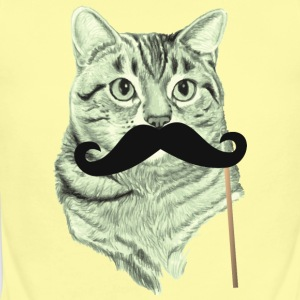 Cute Cat with Mustache Baby   - Short Sleeve Baby Bodysuit