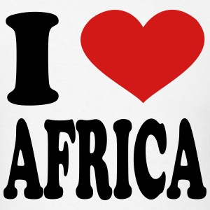 I Love Africa T-Shirts - Men's T-Shirt