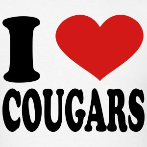 I Love Cougars T-Shirts - Men's T-Shirt