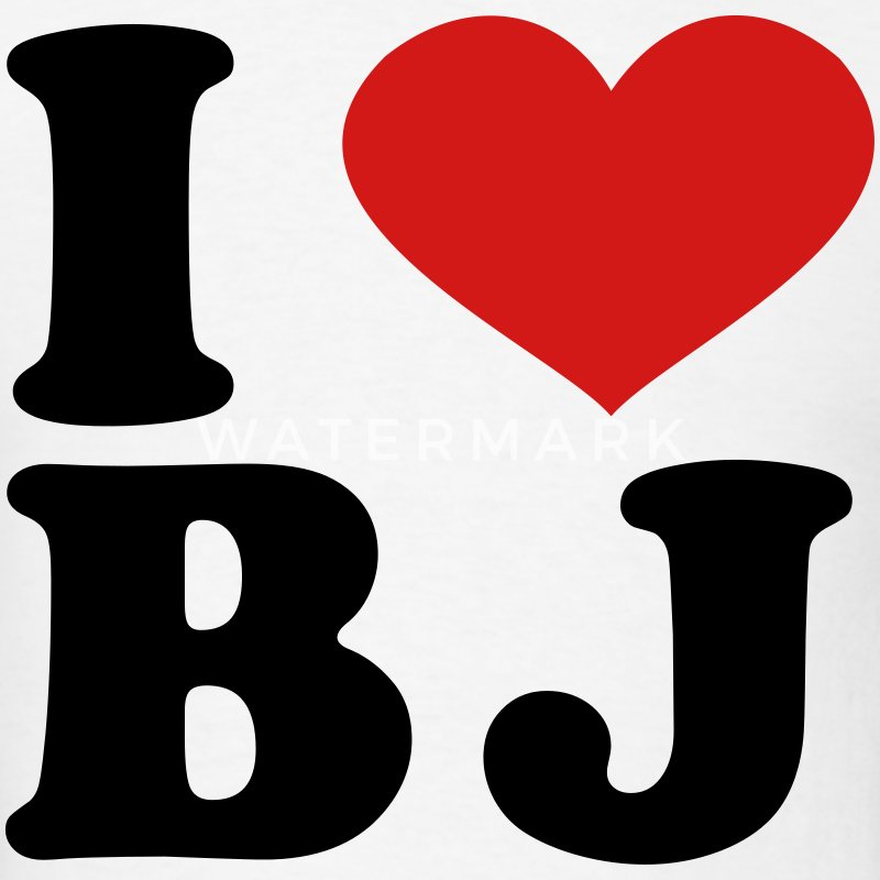 I Love BJ T-Shirts - Men's T-Shirt