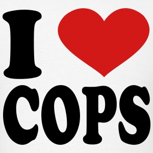 I Love Cops T-Shirts - Men's T-Shirt