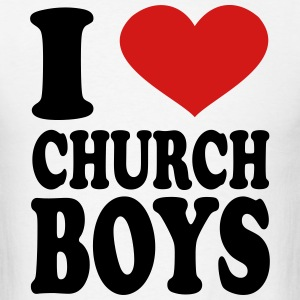 I Love Church Boys T-Shirts - Men's T-Shirt