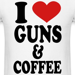 I Love Guns and Coffee T-Shirts - Men's T-Shirt