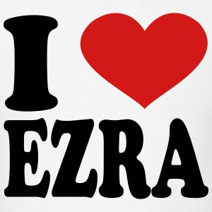 I Love Ezra T-Shirts - Men's T-Shirt