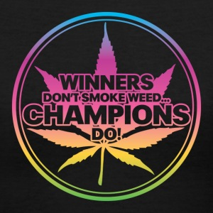Winners Don't Smoke Weed... (Rainbow) Women's T-Shirts - Women's V-Neck T-Shirt
