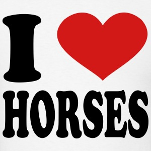 I Love Horses T-Shirts - Men's T-Shirt