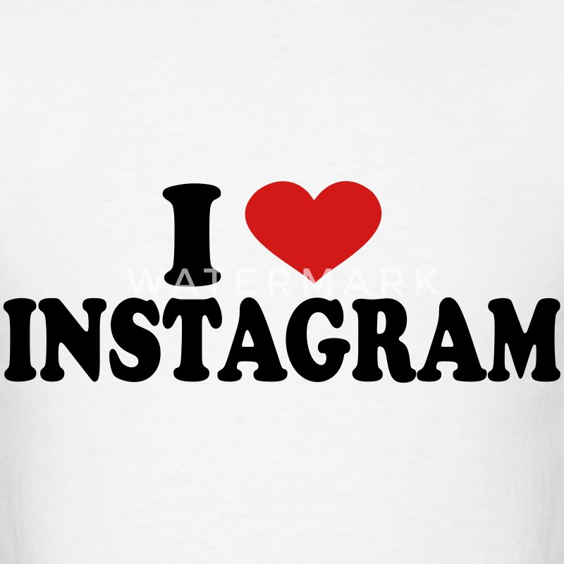 I Love Instagram T-Shirts - Men's T-Shirt