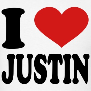I Love Justin T-Shirts - Men's T-Shirt