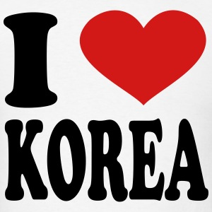 I Love Korea T-Shirts - Men's T-Shirt