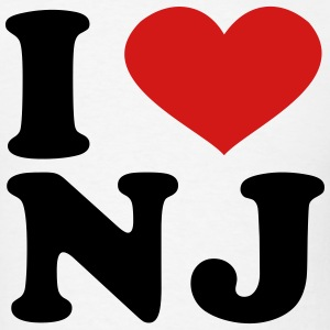I Love nj T-Shirts - Men's T-Shirt
