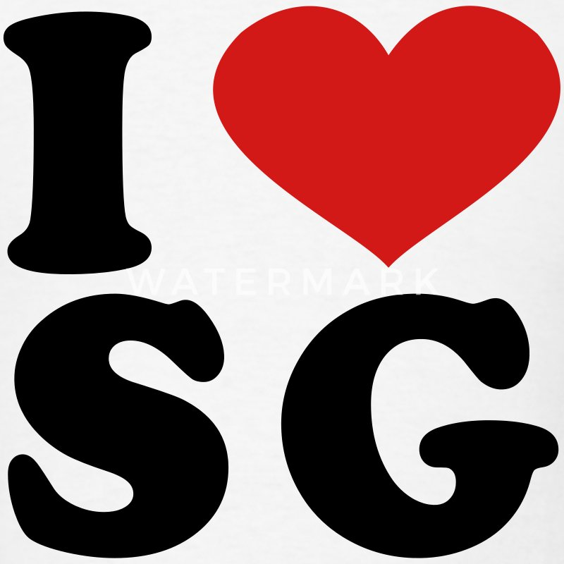 I Love sg T-Shirts - Men's T-Shirt