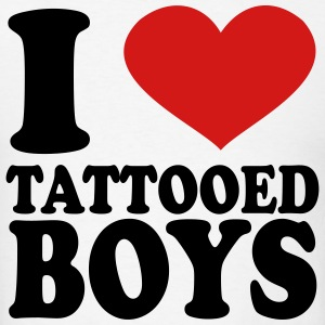 I Love Tattooed boys T-Shirts - Men's T-Shirt