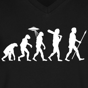 Alien Evolution (1 Color) T-Shirts - Men's V-Neck T-Shirt by Canvas