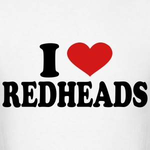 I Love redheads T-Shirts - Men's T-Shirt
