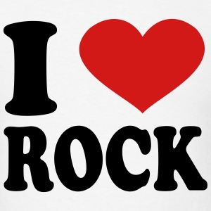 I Love rock T-Shirts - Men's T-Shirt