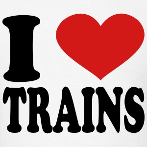 I Love Trains T-Shirts - Men's T-Shirt