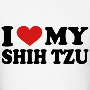 I Love My shih tzu T-Shirts - Men's T-Shirt