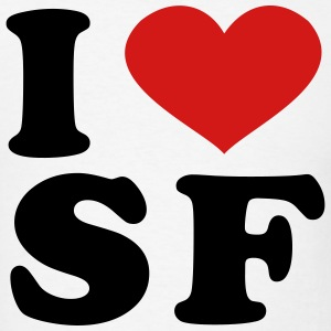 I Love sf T-Shirts - Men's T-Shirt