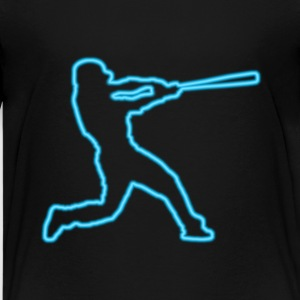 Neon Blue Baseball Batter - Kids' Premium T-Shirt