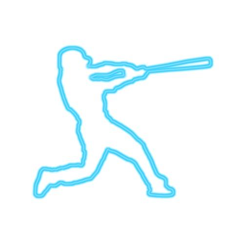 Neon Baseball Batter