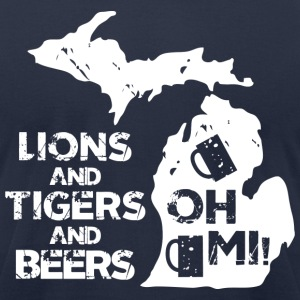 LIONS & TIGERS & BEERS, OH MI! T-Shirts - Men's T-Shirt by American Apparel