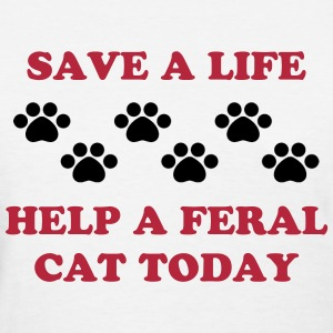 Help a Feral Cat - Women's T-Shirt