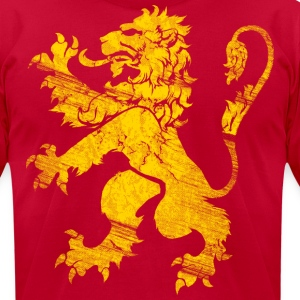 Gold Lion Rampant T-Shirts - Men's T-Shirt by American Apparel