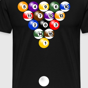 Billiard balls formation Shirt - Men's Premium T-Shirt