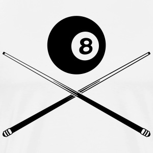 black billiard ball with cue Shirt - Men's Premium T-Shirt