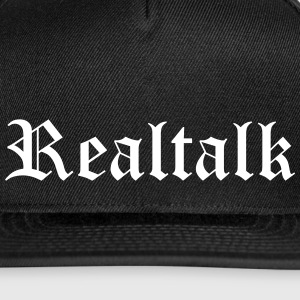 Realtalk Caps - Snap-back Baseball Cap
