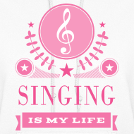 Design ~ Cute Singing Singer Gift Hoodie