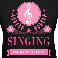 Design ~ Cute Singing Singer Women's Tshirt