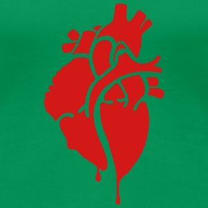 Bloody Heart, Bleeding Heart Women's T-Shirts - Women's Premium T-Shirt