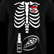 Design ~ Tattoo Dad X-ray Skeleton / pizza & pop