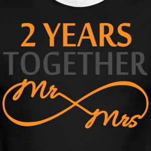 Mr & Mrs Infinite 2 Years T-Shirts - Men's Ringer T-Shirt