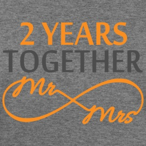 Mr & Mrs Infinite 2 Years Long Sleeve Shirts - Women's Wideneck Sweatshirt