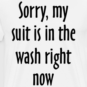 Suit Wash Slogan T-Shirt (Black/White) - Men's Premium T-Shirt