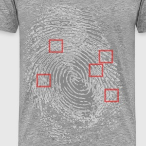 Fingerprint showing minut - Men's Premium T-Shirt