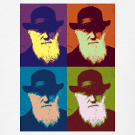 Design ~ YellowIbis.com 'Evolution' Men's / Unisex Standard T-Shirt: Warhol Darwin (White)