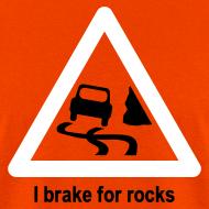 Design ~ YellowIbis.com 'Geology Symbols' Men's / Unisex Standard T-Shirt: I brake for rocks (Colour choice)