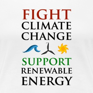 Fight Climate Change Women's T-Shirts - Women's Premium T-Shirt