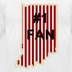 Indiana  Basketball Fan T-Shirts - Men's T-Shirt by American Apparel