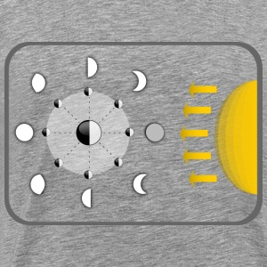 Diagram of Moon phases - Men's Premium T-Shirt