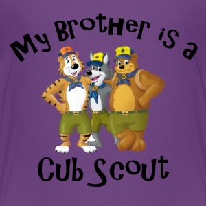 Girl's My Brother is a Cub Scout Shirt - Kids' Premium T-Shirt