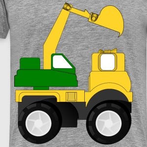 cartoon excavator - Men's Premium T-Shirt