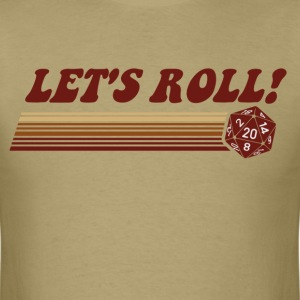 Let's Roll Roleplaying Game Dice T-Shirts - Men's T-Shirt