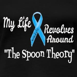 The Spoon Theory Design for Adrenal Awareness  Women's T-Shirts - Women's Premium T-Shirt