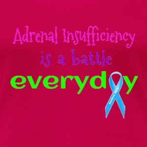 Neon Adenal Insufficiency Battle Women's T-Shirts - Women's Premium T-Shirt