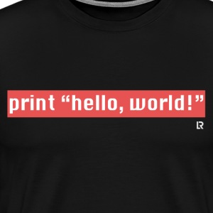 Hello, World! T-Shirts - Men's Premium T-Shirt