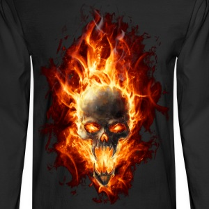 Skull with fire Long Sleeve Shirts - Men's Long Sleeve T-Shirt